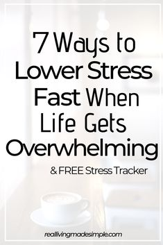When life gets busy or overwhelming, it's easy to get stressed out. But lowering your stress doesn't have to be a mystery. Find 7 tips to lower stress here! How To Lower Stress, How To Relieve Stress, Reduce Stress, Anxiety Relief, Stress Relief, Focus Your Mind, Stress Quotes, Chronic Stress, Dealing With Stress