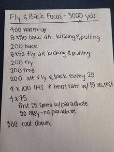 3000 yard swim set with back and fly focus