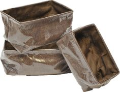 3 Piece Rectangular Basket Set