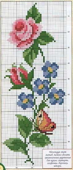 This Pin was discovered by Kam Cross Stitch Letters, Cross Stitch Bookmarks, Cross Stitch Rose, Cross Stitch Borders, Cross Stitch Flowers, Cross Stitch Designs, Cross Stitching, Stitch Patterns, Diy Embroidery Designs