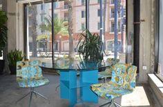 modern print fabric Outdoor Furniture Sets, Outdoor Decor, Modern Prints, Spin, Printing On Fabric, Home Decor, Decoration Home, Fabric Printing, Room Decor