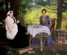 William Mainwaring Palin ~ A Summer Afternoon, 1910 ~ (English: 1862-1947)