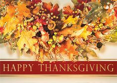 63 best happy thanksgiving cards images on pinterest in 2018 a wreath of autumn leaves hangs above a happy thanksgiving message in gold foil on this striking thanksgiving greeting card m4hsunfo