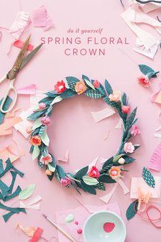DIY Spring Floral Crown Paper Flower | The House That Lars Built
