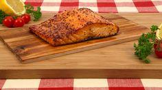 Cedar-Planked Salmon with Maple-Mustard Glaze