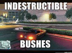 #GTA V Fun with Bushes via Reddit user KessyJavaska