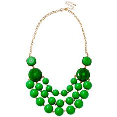 Emerald Bauble Bead Necklace