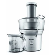 This is the juicer we use. I love it! The only think I would change is adding a seperate pulp container rather than having to clean it out after juicing 20oz.