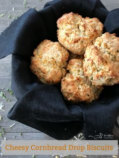Cheesy Cornbread Drop Biscuits are fluffy and slightly sweet in the middle, full of flavor with a crisp exterior. They make the perfect pairing to soups and salads. Slow Cooker Ribs, Slow Cooker Recipes, Crockpot Recipes, Cooking Recipes, What's Cooking, Delicious Recipes, Pork Loin Ribs, Bbq Ribs, Cheesy Cornbread