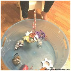 Candy Cane Fishing is a simple Christmas activity that is easy to set up as an after school activity. Or, use it as a Christmas Minute to Win It game at a Christmas party.