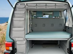 """UTILITIES VW T4 for roof storage box and rear wardrobe, """"Moonrock Grey""""."""