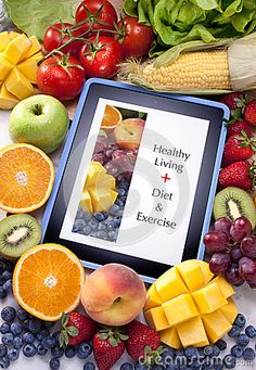 Tablet Healthy Diet Fruit Food