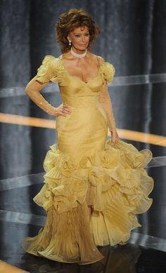 Sophia Loren à la cérémonie des Oscars.