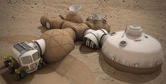 Mars 3D printed habitat design