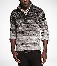 OMBRE MARLED MOCK NECK SWEATER