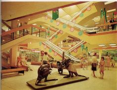 "Roselands Shopping Centre, 1966  The Market Place. ..""Focal point of fun for children."""
