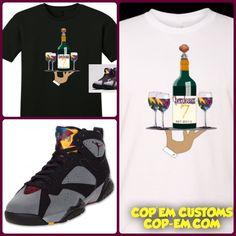 13c21a7fd904 Exclusive Tee Shirt To Match The Nike Air Jordan 7 Bordeaux!