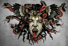Rebel6 Scary Tattoos, Pin Up Tattoos, Body Art Tattoos, Tattoo Drawings, Traditional Tattoo Painting, Neo Traditional Tattoo, Torso Tattoos, Sleeve Tattoos, Colored Tattoo Design