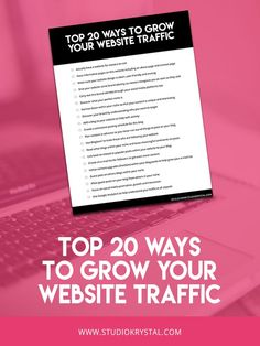 We all want to learn how to grow our website traffic to increase our readerships, clients and followers! Download the '20 Ways to Increase Your Website Traffic: Checklist' to be on your way and gaining new traffic OVERNIGHT!