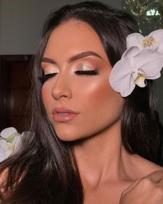 Fancy Makeup, Formal Makeup, Makeup Eye Looks, No Eyeliner Makeup, Prom Makeup, Cute Makeup, Gorgeous Makeup, Bridal Makeup, Wedding Makeup