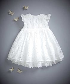 Mamas & Papas - Broderie Anglaise Dress - Welcome To The World -Broderie Anglaise Dress - for sweet baby girlMamas & Papas offer the best quality in prams, pushchairs, car seats, nursery furniture, baby clothing and toys & gifts. Baby Outfits, Little Girl Dresses, Kids Outfits, Girls Dresses, Toddler Dress, Baby Dress, Baby Girl Fashion, Kids Fashion, Kids Frocks