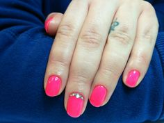 Neon pink with stones