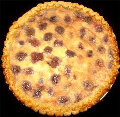 Cherry custard pie