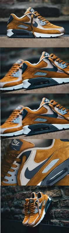 Nike Air Max 90 PRM Desert Ochre These are mine! - Schuhe - Best Shoes World Air Max 90, Nike Air Max, Nike Free Shoes, Nike Shoes, Sneakers Nike, Shoes Sport, Souliers Nike, Basket Style, Style Masculin