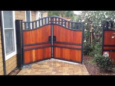 Trackless Bi Fold Gate - Automatic Gate Bi Folding with In Ground Viking I8 - YouTube
