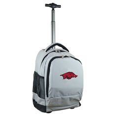 NCAA Arkansas Razorbacks Grey Premium Wheeled Backpack
