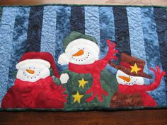 Jack Frost and Friends Table Runner PDF by quiltdoodledesigns
