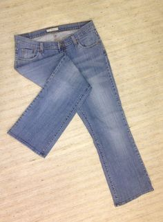 LEVIS 529 CURVY BOOT CUT Sz 16 MID RISE STRETCH JEANS ACTUAL 36X31 SMOOTH EUC D3 #Levis #BootCut