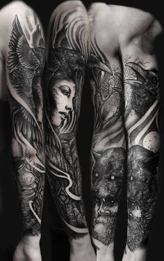 valkyrie sleeve tattoo - Google Search