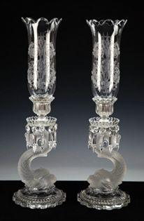 Par de casticais em cristal Baccarat do sec.19th, 54,5cm de altura, 37,400 EGP / 15,250 REAIS / 4,350 EUROS / 4,900 USD https://www.facebook.com/SoulCariocaAntiques https://instagram.com/soulcarioca_antiques