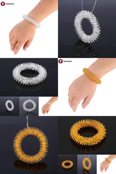 [Visit to Buy] 1 Pcs Acupuncture Bracelet Wrist Massager Supplies Relaxation Stainless Steel Wrist Hand Massage Ring Health Care Tool #Advertisement