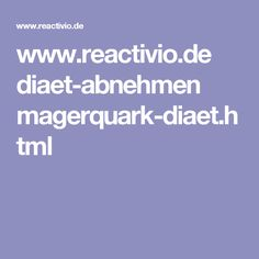 www.reactivio.de diaet-abnehmen magerquark-diaet.html