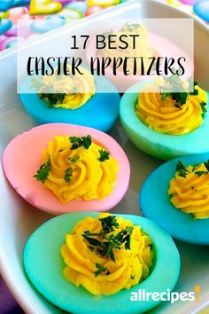 These Easter brunch or Easter dinner appetizers feature spring's freshest ingredients. They're some of our top Easter appetizer recipes, perfect kick-offs for your special Easter meal. Easter Appetizers, Light Appetizers, Healthy Appetizers, Appetizer Recipes, Easter Dinner, Easter Brunch, Sunday Brunch, Quick Recipes, Brunch Recipes