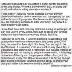 Real recovery restores autonomy. #EDRecovery #eatingdisorderrecovery