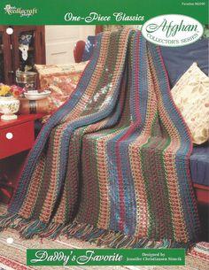 🌈 🐬 🌈 Crochê listra da herança Padrão afegão casa por itens decorativos Malha Criações -  /  🌈 🐬 🌈 Crochet Stripe Heirloom Afghan Pattern Home by Knit Knacks Creations -