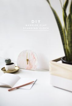 DIY mini standing desk clock | easy tutorial idea| polymer clay project | home decor | gift idea