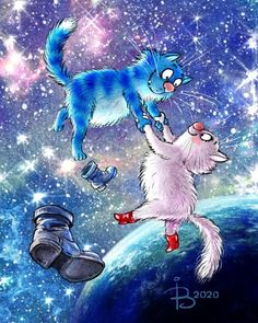 Our goal is to keep old friends, ex-classmates, neighbors and colleagues in touch. Cat Colors, Blue Cats, Animal Design, Beautiful Artwork, Cat Love, Vintage Postcards, Cool Cats, Cat Art, Cats And Kittens