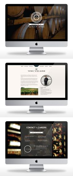 New website for East Coast Distribution Co, a Charleston-based wine distribution… Design Logo, Wine Design, Wine Websites, Web Creation, Business Web Design, Ui Elements, Le Web, Mobile Design, Design Development