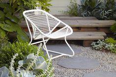 New Fermob Sixties Armchair. Photo by: Caitlin Atkinson for Flora Grubb Gardens.