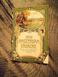 #NewYorkCity NY Merchandise / #VINTAGE #PLAYBILL 1910 NEW AMSTERDAM THEATER - Geebo