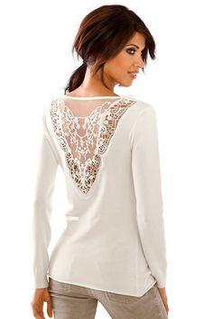 Heine Lace Detail Pullover Online | Shop EziBuy