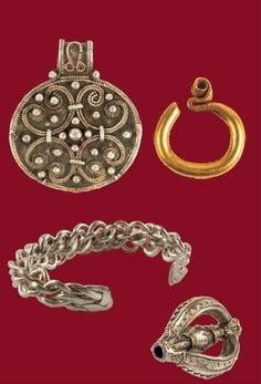Slavic jewellery from the museum in Opole, Poland.