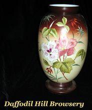 Bristol Vase Hand Painted  10 inch
