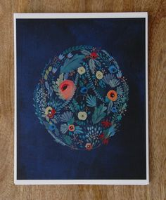 print of shared floral by britthermann on Etsy, $23.00