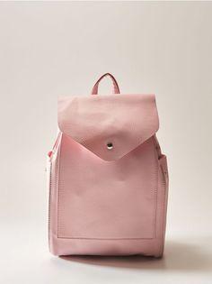 Lehajtható fedeles hátizsák - rózsaszín - TC605-03X - House - 0