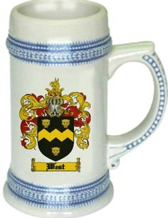 West Coat of Arms / Family Crest stein mug - $21.99